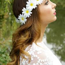 white flower headband best flower headbands products on wanelo