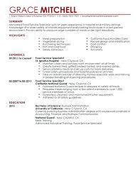 restaurant resume templates food service resume template medicina bg info