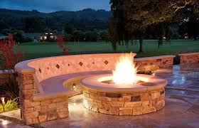 Unique Fire Pits by Outdoor Patio With Fire Pit Ideas Images Landscaping Gardening