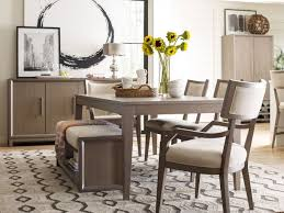 Dining Room Sets With Benches Highline Leg Dining Set W Klismo Chairs And Bench Rachael Ray