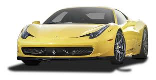 Ferrari 458 Yellow - yellow ferrari 458 italia car png image pngpix
