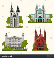 Travel Theme by Vector Color Flat Set European Landmark Stock Vector 316771439