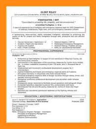 Firefighter Resume Templates 8 Sample Firefighter Resume Dtn Info