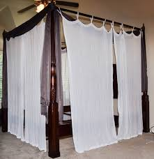 bombay queen canopy bed with drapes ebth bombay queen canopy bed with drapes