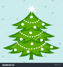 white decorated christmas tree vector illustration stock vector