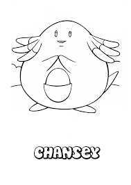 chansey coloring pages hellokids com