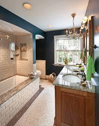 Rustic Tile Bathroom - milwaukee beveled subway tile bathroom traditional with hex