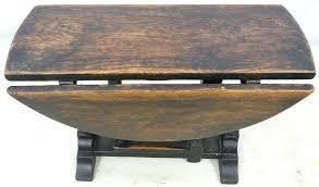 Drop Leaf Pedestal Table Antique Mahogany Drop Leaf Side Table Pedestal Pair Banded End