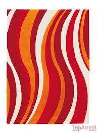 tappeto moderno rosso tappeto moderno wave