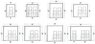 dimensions of a 2 car garage typical 2 car garage size and 2 car garage door dimensions full