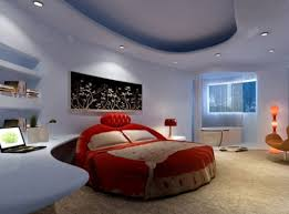 red and blue bedroom light blue bedroom and red bed interior design