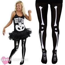 skeleton fancy dress costume mens skinsuit ladies skater dress