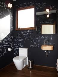 Bathroom With Black Walls Chalk Paint Wall With Black Walls Bathroom Contemporary And