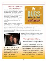 thanksgiving newsletter newsletters u2014 reconciled termite u0026 pest control