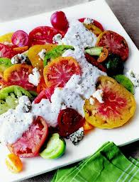 ina garten tomato heirloom tomatoes with blue cheese dressing from ina garten things