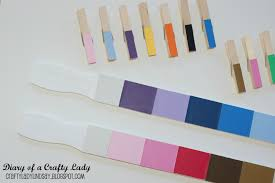 diary of a crafty lady paint stick paint chip color matching game