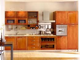 Dark Brown Cherry Wood Double Slab Door Kitchen Cupboard Door - Slab kitchen cabinet doors