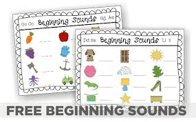beginning sounds u2013 5 guided reading activities printable