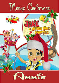 personalised jake neverland pirates christmas card