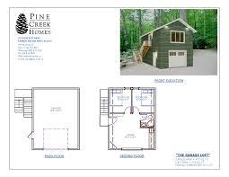 garage loft pine creek homes