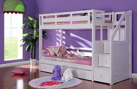 Luxury White Bunk Bed With Stairs Sleepland Beds - Solid oak bunk beds with stairs