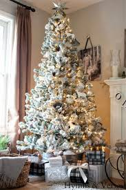 231 best christmas flocked trees images on pinterest white