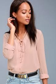 style blouse pretty blush pink blouse button up blouse sleeve blouse
