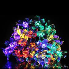 led christmas string lights outdoor solar fairy led christmas string lights outdoor fairy flower blossom