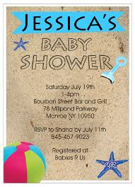 baby shower invitations under the sea baby shower invitations beach theme theruntime com