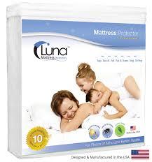 Home Design Waterproof Mattress Pad Luna Premium Hypoallergenic Waterproof Mattress Protector