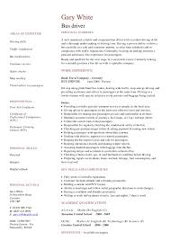 Sample Bus Driver Resume by City Bus Driver Cover Letter