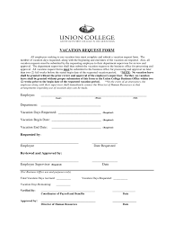 Letter For Vacation Request Employee Vacation Request Form 2 Free Templates In Pdf Word