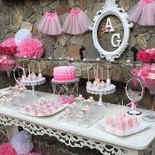 baby shower ballerina more decoration http www kadinika com mesa de postres ballet
