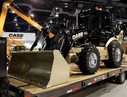 case unveils one of a kind backhoe at conexpo