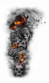 design 137 by giulio rossi hip dark sketch tattoo design