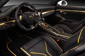 porsche 911 interior porsche 911 turbo stinger gtr by topcar has 24k gold interior