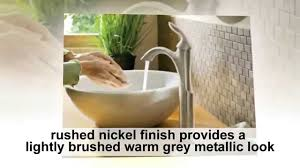One Handle Bathroom Faucet by Moen 6400bn Eva One Handle High Arc Bathroom Faucet Reviews Youtube