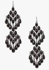 black chandelier earrings lyst bebe faceted chandelier earrings in black