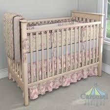 Mini Portable Crib Bedding Green Toile Mini Portable Crib Bedding By Carousel Designs