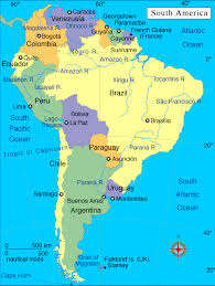 map of cities in south america south america map