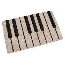 piano coir doormat at the stand