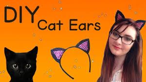 Halloween Cat Fabric Diy Cat Ears For Halloween Youtube