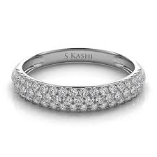 wedding band florida 14kt white gold pave diamond wedding band engagement