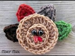 episode 126 how to crochet an easy turkey applique