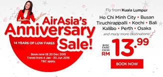 airasia singapore promo airasia anniversary sale promotion airasia promotions