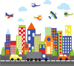wall decals kids wall decals city decal buildings decal zoom
