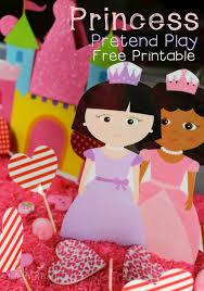 free princess printable sensory play
