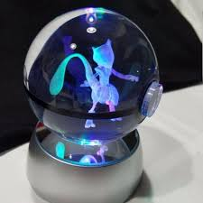 ball with light inside ibrahimovic pokemon crystal transparent glass ball crtoon animals