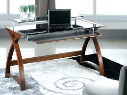 wood desk with glass top metal corner desk digitalblocks me