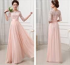 floor length 5 colors formal dresses half sleeve chiffon vestidos